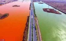 Dòng sông đột ngột chuyển màu đỏ như máu khiến người dân bàng hoàng