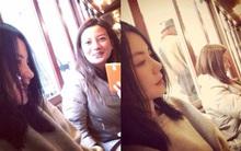 Triệu Vy ăn mặc giản dị đi cafe cùng Vương Phi ở Pháp