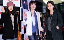 Mỹ nhân Hàn xúng xính áo ấm đi xem phim