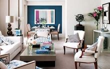 Tạo điểm nhấn cho không gian sống với gam màu xanh biển