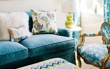 Những biến hóa nội thất phong cách với sofa màu ngọc lam