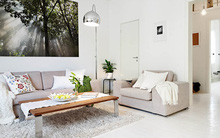 Ấn tượng với cách bài trí độc đáo của căn hộ 40 mét vuông màu trắng