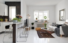 Ghé thăm căn hộ 41m² trắng sáng mà không đơn điệu
