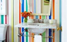 """Phòng tắm """"nổi bần bật"""" với vài chiêu đơn giản"""