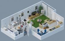5 gợi ý bố trí căn hộ 1 phòng chi tiết bằng bản vẽ 3D