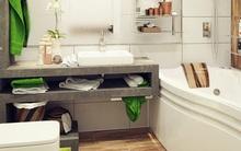 2 phòng tắm nhỏ lung linh nhờ màu sắc thư giãn