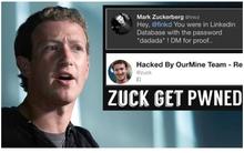Ông chủ Facebook bị hack tài khoản cũ, mật khẩu là dadada
