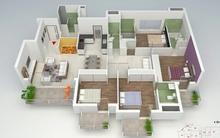 Những mẫu căn hộ có thiết kế cực hợp lý cho gia đình đông người