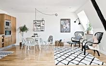 Căn hộ 36m² đơn giản mà đẹp đến bất ngờ với gam màu đen - trắng