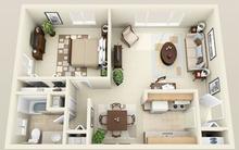 15 mẫu căn hộ 1 phòng ngủ tuyệt đẹp cho vợ chồng trẻ