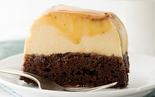 Mát mịn xốp mềm món bánh flan chocolate