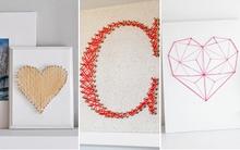 3 cách làm tranh len mộc mạc trang trí nhà xinh