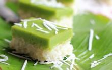 Biến tấu mới cho món xôi dừa lá dứa hai tầng dẻo thơm lạ miệng
