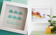 2 cách làm tranh đơn giản sáng tạo trang trí phòng cho bé