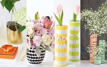 4 cách F5 bình hoa trang trí nhà cực yêu