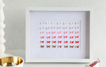 Trang trí nhà xinh với tranh bướm 3D đẹp lung linh