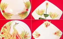Trang trí đĩa ăn đẹp tinh tế chỉ với vỏ dưa hấu!