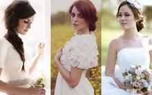 Xu hướng tóc cưới 2012: Vẻ đơn giản, nhẹ nhàng lên ngôi