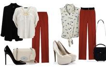 4 cách phối đồ với quần ống rộng màu đỏ