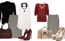 3 kiểu phối đồ phong cách với chân váy houndstooth