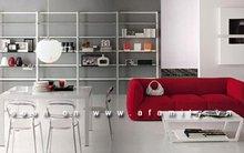 Nghệ thuật phối màu đỏ và trắng cho nhà đẹp