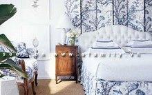 Đầu giường đẹp bất ngờ từ việc tận dụng bình phong