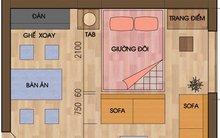 Bố trí căn hộ 25m2 hợp lý cho nhà... 4 người