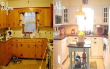 """Ngắm nhà bếp cũ kỹ trở nên tươi mới sau khi """"lột xác"""""""