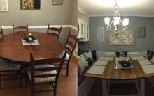 Biến bàn ăn kiểu cũ thành phòng ăn gia đình vừa rộng vừa sang lại ít tốn kém