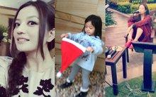 """Fan phát """"sốt"""" với hình ảnh mới của Triệu Vy và con gái"""