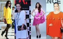 Bí quyết mặc đầm dáng rộng đẹp như mĩ nhân Việt