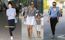 Sao thế giới dạo phố với giày bệt và style đơn giản