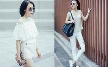 Gợi ý mặc đồ trắng ngọt ngào, mát dịu cho ngày nghỉ dạo phố