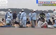 34 học sinh Nhật phải cấp cứu trên chuyến bay Vietnam Airlines có dấu hiệu ngộ độc sau bữa ăn tại một khách sạn