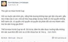 Cười đau bụng với thư, thơ tới tấp gửi vợ mùa World Cup