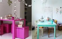 Làm đẹp và sống động không gian nhờ chiếc bàn màu sắc
