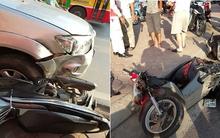 Hà Nội: Xế hộp nổ lốp đâm hàng loạt xe máy, nhiều người bất tỉnh
