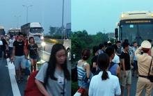 Hơn 50 hành khách về Hà Nội vạ vật cả tiếng đồng hồ giữa cao tốc vì lên