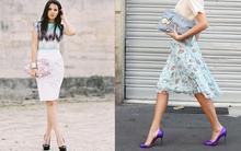 """Đi tìm """"bộ đôi"""" hoàn hảo chân váy - giày cao gót cho nàng công sở"""