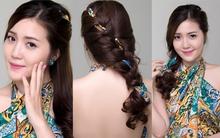 Nhấn nhá cho tóc hè với 3 kiểu biến tấu cùng khăn lụa