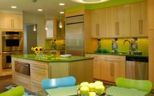 Décor nhà khéo léo với màu xanh lá
