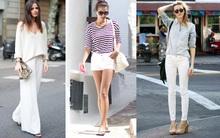 Phối đồ nổi bật cùng 4 kiểu quần trắng phổ biến