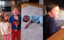 Cười nghiêng ngả trước phản ứng của trẻ khi nghe tin bị bố mẹ ăn sạch kẹo