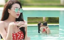Trà Ngọc Hằng cuồng nhiệt hôn mẫu Tây trong bể bơi