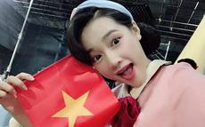 Nhã Phương thích thú chia sẻ khoảnh khắc ăn mừng của Trường Giang khi Anh Đức ghi bàn cho ĐT Việt Nam