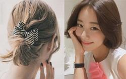 Nàng tóc ngắn ngoài uốn xoăn hay để thẳng còn đầy kiểu buộc tết cực xinh nhé!