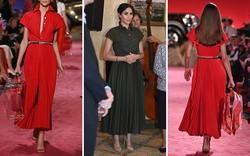 Khéo léo che bụng bầu bằng váy xếp li đắt đỏ, Công nương Meghan thu hút mọi ánh nhìn nhờ vẻ sang trọng tuyệt đối