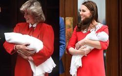 Không phải ngẫu nhiên mà Công nương Kate lại chọn đầm đỏ trong buổi diện kiến công chúng sau sinh