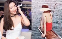 Diện đồ bơi liền mảnh, Hà Tăng lại khiến fan nức nở với tấm lưng trần gợi cảm
