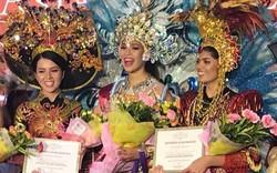 Thúy Vi xuất sắc trở thành Á quân trong phần thi trang phục truyền thống tại Miss Asia Pacific International